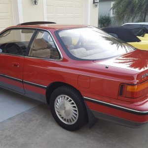 1989 Red Acura Legend 48k miles.